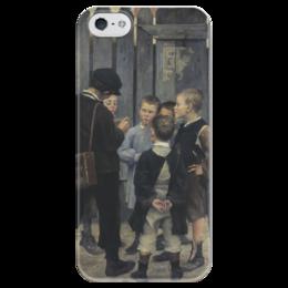 """Чехол для iPhone 5 глянцевый, с полной запечаткой """"Совещание"""" - картина, башкирцева"""