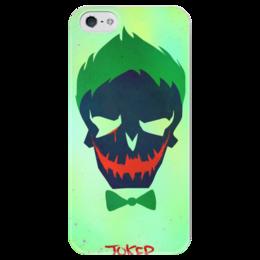 """Чехол для iPhone 5 глянцевый, с полной запечаткой """"Джокер"""" - jared leto, комиксы, dc comics, отряд самоубийц, suicide squad"""