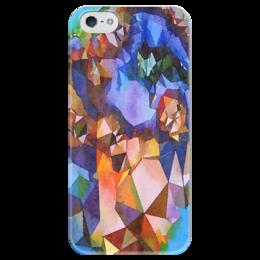 """Чехол для iPhone 5 глянцевый, с полной запечаткой """"Жеода"""" - фиолетовый, желтый, синий, коричневый"""