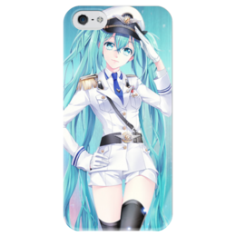 """Чехол для iPhone 5 глянцевый, с полной запечаткой """"Miku vocaloid"""" - аниме, anime, мику, вокалоиды, miku vocaloid"""