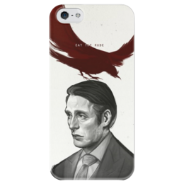 """Чехол для iPhone 5 глянцевый, с полной запечаткой """"Ганнибал"""" - рисунок, сериал, ганнибал, hannibal"""
