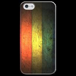 """Чехол для iPhone 5 глянцевый, с полной запечаткой """"Цвета растаманов. Регги"""" - reggae, jamaica"""