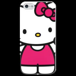 "Чехол для iPhone 5 глянцевый, с полной запечаткой ""Хэллоу Китти"" - hello kitty"
