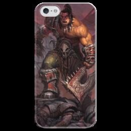 """Чехол для iPhone 5 глянцевый, с полной запечаткой """"Warcraft"""" - война, герои, warcraft, world of warcraft, варкрафт"""