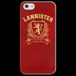 """Чехол для iPhone 5 глянцевый, с полной запечаткой """"Игра Престолов. Дом Ланнистеров"""" - игра престолов, game of thrones, ланнистеры, house lannister, дом ланнистеров"""