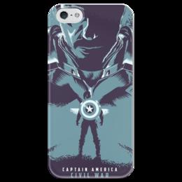 """Чехол для iPhone 5 глянцевый, с полной запечаткой """"Противостояние"""" - комиксы, кино, marvel, противостояние, civil war"""