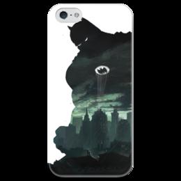"""Чехол для iPhone 5 глянцевый, с полной запечаткой """"Бэтмен"""" - комиксы, batman, бэтмен, dc, dc comcis"""