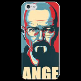 """Чехол для iPhone 5 глянцевый, с полной запечаткой """"Breaking Bad"""" - во все тяжкие, breaking bad, heisenberg"""