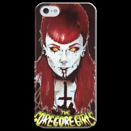 "Чехол для iPhone 5 глянцевый, с полной запечаткой ""The Gore Gore Girls"" - девушки, зомби, ужасы, хоррор"