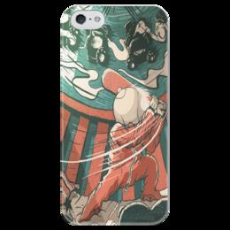"""Чехол для iPhone 5 глянцевый, с полной запечаткой """"baseball man"""" - baseball, бейсбол"""