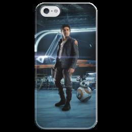 """Чехол для iPhone 5 глянцевый, с полной запечаткой """"Звездные войны - По Дамерон"""" - кино, фантастика, star wars, звездные войны, дарт вейдер"""