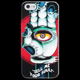 """Чехол для iPhone 5 глянцевый, с полной запечаткой """"SMYS!"""" - необычно, глаз, стиль, ужасы, душа"""