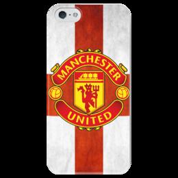 """Чехол для iPhone 5 глянцевый, с полной запечаткой """"Манчестер Юнайтед"""" - манчестер юнайтед, manchester united, футбольный клуб"""