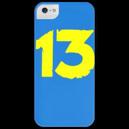 """Чехол для iPhone 5 глянцевый, с полной запечаткой """"Фоллаут"""" - 13, чехол, fallout, айфон5, волт, vault 13"""
