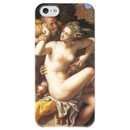 """Чехол для iPhone 5 глянцевый, с полной запечаткой """"Сусанна и старцы"""" - картина, аллори"""