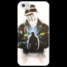 """Чехол для iPhone 5 глянцевый, с полной запечаткой """"rorschach"""" - comics, rorschach, хранители, dc, роршах"""