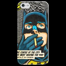 """Чехол для iPhone 5 глянцевый, с полной запечаткой """"joy division"""" - joy division, бэтман, кертис"""