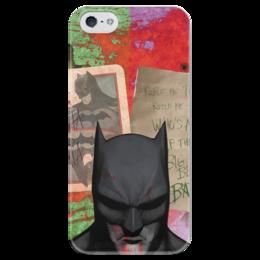 """Чехол для iPhone 5 глянцевый, с полной запечаткой """"Бэтмен"""" - комиксы, бэтмен, dc comics, dc, batman"""