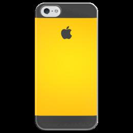 "Чехол для iPhone 5 глянцевый, с полной запечаткой ""Апельсин"" - iphone, yellow"