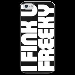 """Чехол для iPhone 5 глянцевый, с полной запечаткой """"DIE ANTWOORD - I FINK YOU FREEKY"""" - die antwoord, рэп-рейв"""