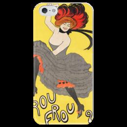 """Чехол для iPhone 5 глянцевый, с полной запечаткой """"ретро"""" - эротика, ретро, винтаж, париж, постер"""