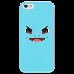 """Чехол для iPhone 5 глянцевый, с полной запечаткой """"Сквиртл"""" - pokemon, покемон, сквиртл"""