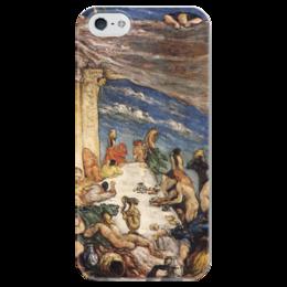 """Чехол для iPhone 5 глянцевый, с полной запечаткой """"Оргия"""" - картина, сезанн"""