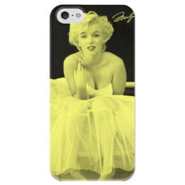 """Чехол для iPhone 5 глянцевый, с полной запечаткой """"Мэрилин Монро"""" - ретро, мэрилин монро, marilyn monroe, monroe"""