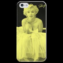 "Чехол для iPhone 5 глянцевый, с полной запечаткой ""Мэрилин Монро"" - мэрилин монро, marilyn monroe, monroe, ретро"