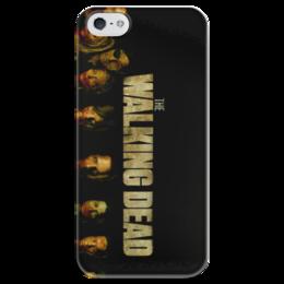 """Чехол для iPhone 5 глянцевый, с полной запечаткой """"The walking dead"""" - зомби, ходячие мертвецы, ходячие, the walking dead"""