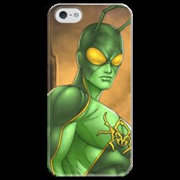"""Чехол для iPhone 5 глянцевый, с полной запечаткой """"Супергерои: Человек-муравей"""" - комиксы, фантастика, супергерои, человек-муравей"""