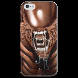 """Чехол для iPhone 5 глянцевый, с полной запечаткой """"Чужой"""" - хищник, alien, чужой, predator, алиен"""