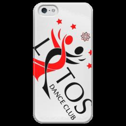 """Чехол для iPhone 5 глянцевый, с полной запечаткой """"White Diagonal Logo Case"""" - тск лотос, lotos"""