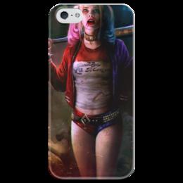"""Чехол для iPhone 5 глянцевый, с полной запечаткой """"Харли Квинн"""" - harley quinn, отряд самоубийц, suicide squad, margot robbie, марго робби"""
