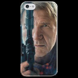 """Чехол для iPhone 5 глянцевый, с полной запечаткой """"Звездные войны - Хан Соло"""" - звездные войны, фантастика, дарт вейдер, кино, star wars"""