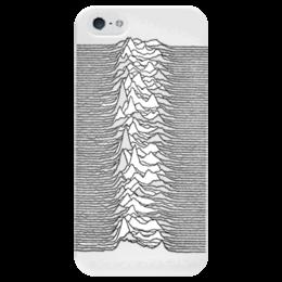 "Чехол для iPhone 5 глянцевый, с полной запечаткой ""Unknown Pleasures"" - joy division, unknown pleasures, пост-панк"