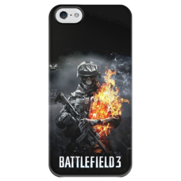 """Чехол для iPhone 5 глянцевый, с полной запечаткой """"Battlefield"""" - battlefield, battlefield 3, shooter"""