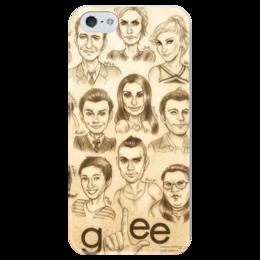 """Чехол для iPhone 5 глянцевый, с полной запечаткой """"GleeClub"""" - хор, glee, лузеры, новые горизонты"""