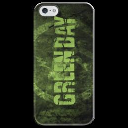 """Чехол для iPhone 5 глянцевый, с полной запечаткой """"Green day"""" - day, green, green day, rock band"""