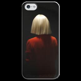 """Чехол для iPhone 5 глянцевый, с полной запечаткой """"sia sia"""" - музыка, стиль, sia, сия"""