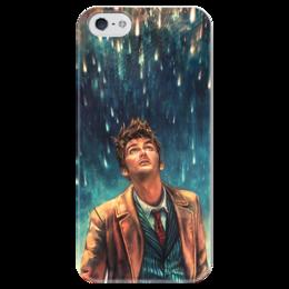 """Чехол для iPhone 5 глянцевый, с полной запечаткой """"Доктор Кто"""" - фантастика, сериал, doctor who, доктор кто"""