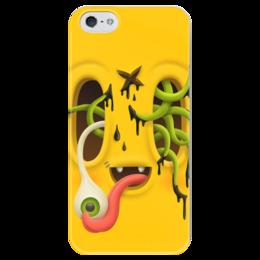 "Чехол для iPhone 5 глянцевый, с полной запечаткой ""Милый Монстр"" - монстр, monsters, хэллоуин, helloween"