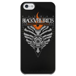"""Чехол для iPhone 5 глянцевый, с полной запечаткой """"Black Veil Brides"""" - black veil brides, музыка, группы, рок, метал"""