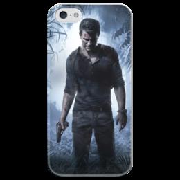 """Чехол для iPhone 5 глянцевый, с полной запечаткой """"Uncharted"""" - игры, uncharted"""