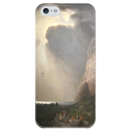 """Чехол для iPhone 5 глянцевый, с полной запечаткой """"The Lost Balloon"""" - картина, берд"""