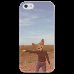"""Чехол для iPhone 5 глянцевый, с полной запечаткой """"Фенек"""" - fox, фенек"""