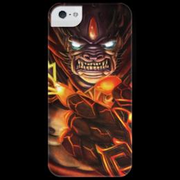 """Чехол для iPhone 5 глянцевый, с полной запечаткой """"LION (dota 2)"""" - lion, dota, dota2"""