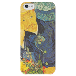 """Чехол для iPhone 5 глянцевый, с полной запечаткой """"Портрет доктора Гаше (Винсент ван Гог)"""" - картина, ван гог"""