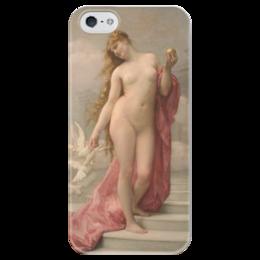 """Чехол для iPhone 5 глянцевый, с полной запечаткой """"Венера (картина Кабанеля)"""" - картина, кабанель"""