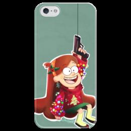"Чехол для iPhone 5 глянцевый, с полной запечаткой ""Гравити Фолз"" - новый год, gravity falls, гравити фолз, мейбл, абардажный крюк"